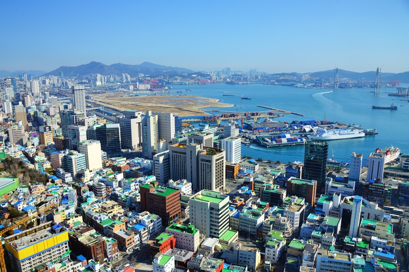 Busan is the busiest port in Korea.